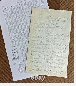 Civil War Geronimo Capture General Henry Lawton ALS MOH Recipient KIA