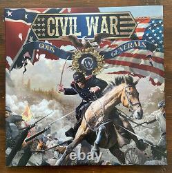 Civil War Gods And Generals 2LP Lt Ed 200 SABATON Astral Doors CLEAR VINYL