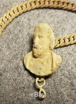 Civil War Insignia Unknown General Cape Pin with Chain Excavated Manassas, VA