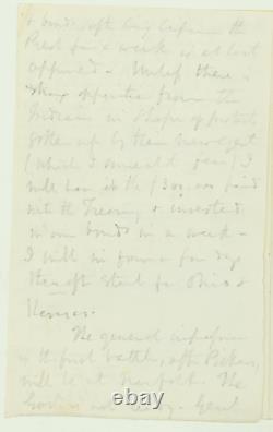 Civil War Letter re Chances of William T. Sherman Obtaining General Commission