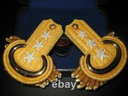 Civil War Lieutenant General Embroidered Shoulder Epaulets withCase