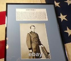 Civil War Major General Wesley Merritt Framed Autograph Fought at Gettysburg