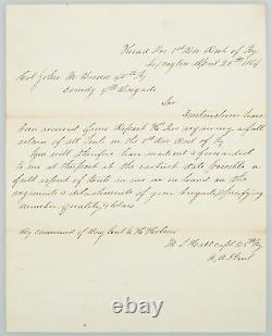 Civil War Order Letter Union General Hobson Order Louisville Kentucky 1863