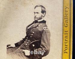 Civil War Photo Stereoview General Sherman Yellow Mount
