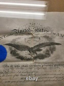 Civil War President Andrew Johnson Signed Military Appointment General Potter