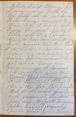 Civil War Soldiers Letter & Cover GENERAL CUSTER DIV at Winchester MAR 1865