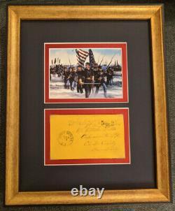 Civil War Union General Galusha Pennypacker War-Date Signed Framed