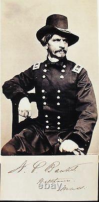 Civil War Union General Nathaniel P. Banks Autograph Governor & Senator #2