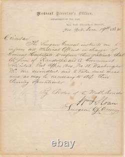 Civil War Union Surgeon General Warning regarding Patient Swindlers 1864