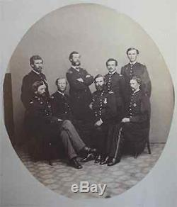 Civil War Vermont 1st Brigade General Getty and Staff photograph 5th VT Gould Lg