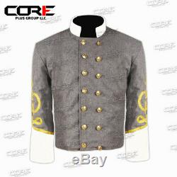 Civil war American Confederate Generals Shell jacket, with Off white collar cuff