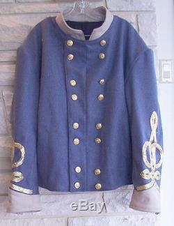 Confederate General Cadet Gray Shell Jacket, Civil War, New