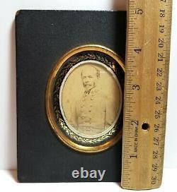 Confederate General Joseph E. Johnson, small framed Civil War CDV photo CSA