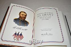 EASTON PRESS 5V CIVIL WAR GENERALS Grant Sherman Chamberlain Lee Early LEATHER