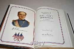 EASTON PRESS 5V CIVIL WAR GENERALS Grant Sherman Chamberlain Lee Early LEATHER