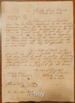 Extremely Rare CONFEDERATE General Order 1864 Robert E. Lee, Lunsford Lomax NICE