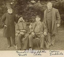 Four CIVIL War Veterans, General Grubb & Original Antique Photograph