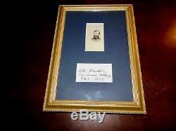 Framed CDV And Signature Civil War General W. B. Franklin