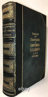 GENERAL ULYSSES GRANT! (FIRST EDITION 1868!) Memoirs Personal Civil War LEATHER