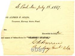 GOUVERNEUR K WARREN, Civil War Union General/Gettysburg, Autograph 8338