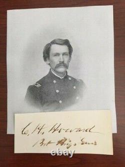 General Charles H Howard Signed CIVIL War Black Troops, Antietam, Gettysburg