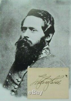 General Fitzhugh Lee Confederate Civil War Cavalry Commander Autograph Card