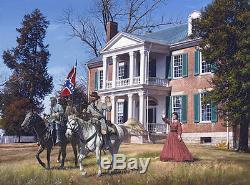General Forrest at Carnton John Paul Strain Civil War Print Tennesee 1864