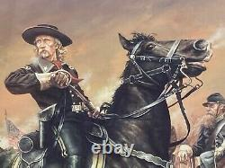 General George A Custer by Dan Nance Ltd Edition Print #79/250 Framed & Matted