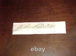 General John F Ballier Civil War Pennsylvania Legend German Born Autographed Cut