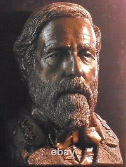 General ROBERT E LEE life size bust from death mask Monumental tribute Civil War