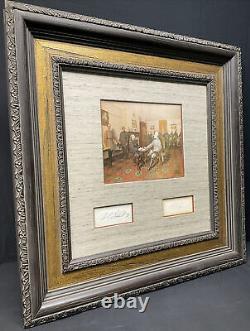 General Robert E. Lee & President Ulysses S. Grant U. S. Signed Civil War Framed