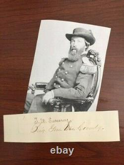 General Thomas W. Sweeny Signed Slip CIVIL War, Mex-am War, Yuma War, Fenian War