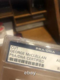 George McClellan Signed Cut Auto PSA. Civil War General