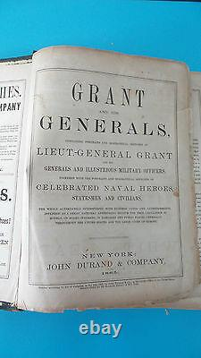 Grant And His Generals 1865 John Durand Civil War Illustrious Military Officers