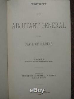 Illinois Adjutant General Report CIVIL War, Black Hawk Mexican Spanish-american