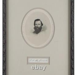 J. E. B Stuart Signed Confederate General -Jeb Stuart Civil War Signature Psa/Dna