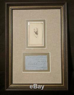 KIA Civil War Confederate General A. P. Hill War-Date Signed Document Framed