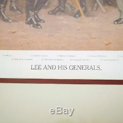 LEE AND HIS GENERALS Civil War Confederate Robert E Lee MATTHEWS FRAMED ART 30