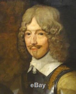 Large English Civil War General Portrait William Cavendish 1st Duke Of Newcastle