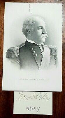 Legendary Union Major General Nelson Miles Civil War Old West Autograph RARE