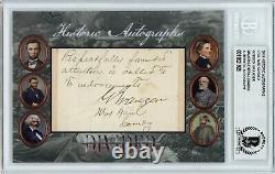Major General GORDON GRANGER Cut Signature HA Civil War Divided Auto Juneteenth