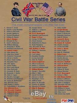 Major General James Negley Stones River #83 2018 Esi CIVIL War Psa/dna Autograph