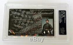 Major General Julius Stahel Medal of Honor #71 2018 ESI Civil War PSA AUTOGRAPH