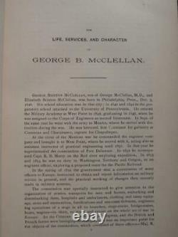 McCLELLAN'S OWN STORY 1887 GENERAL GEORGE McCLELLAN CIVIL WAR MEMOIR FINE
