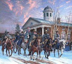 McNeill's Rangers John Paul Strain Civil War Print Capture of Union Generals