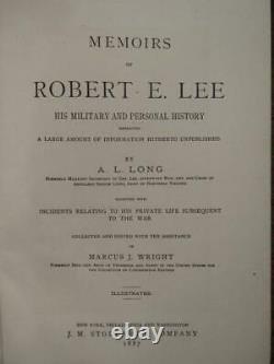 Memoirs Of Robert E. Lee 1887 CIVIL War Confederate General