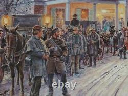 Mort Kunstler Merry Christmas General Lee Civil War Print MINT