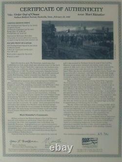 Mort Kunstler Order Out of Chaos limited edition print General Forrest, Nash