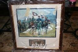 NIB Civil War General Robert E. Lee Legends in Gray Print Mort Künstler 22x22