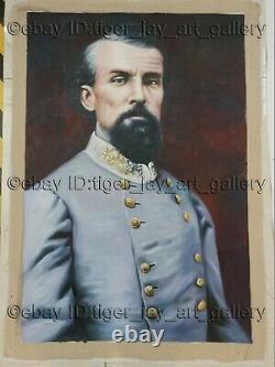 Nathan Bedford Forrest Lieutenant General American Civil War Original Painting